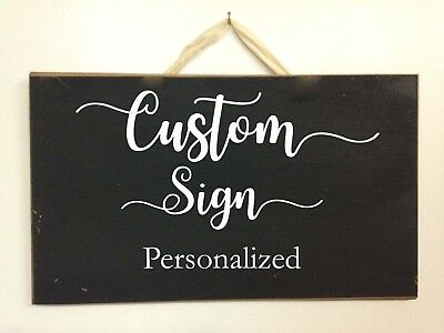 Personalized Custom Sign wood wedding names directions office business party