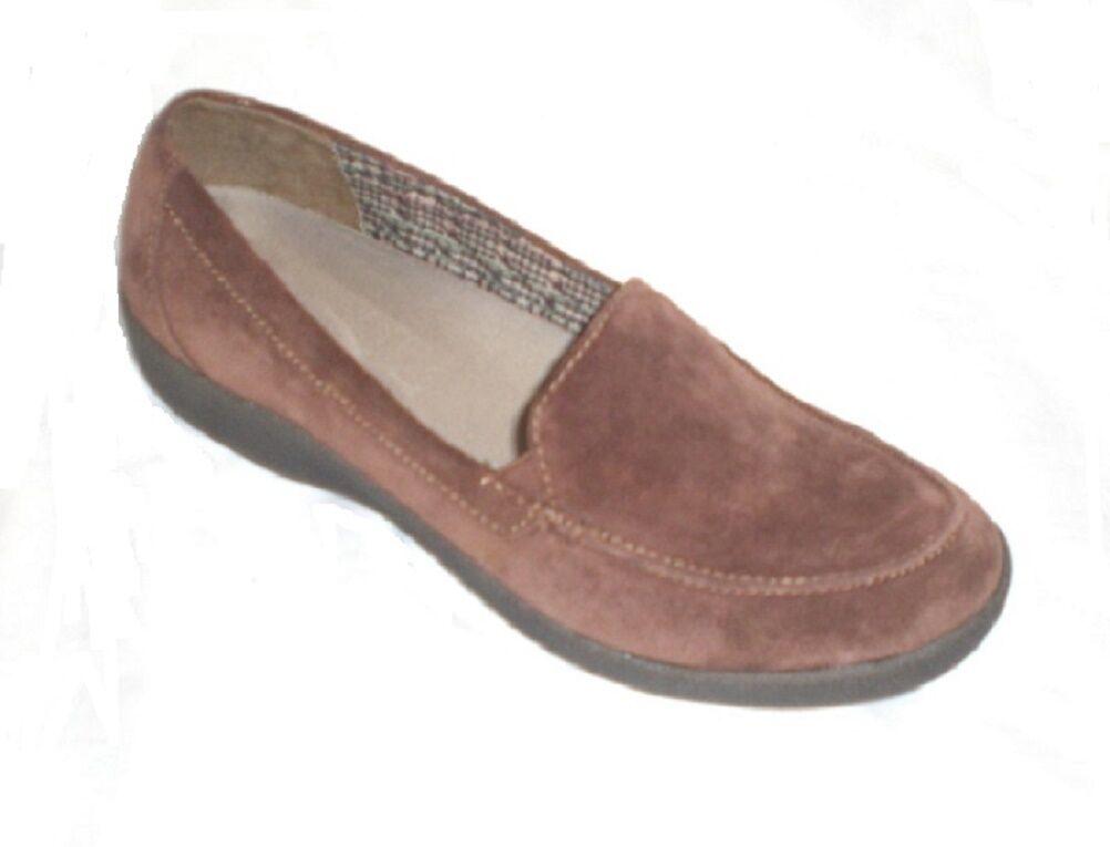 Spedizione gratuita al 100% Easy Spirit Warwick loafer Marronee suede leather leather leather 7.5 WIDE  punto vendita
