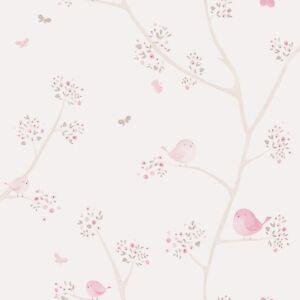 5-63-qm-Vliestapete-Caselio-29835236-Kinderzimmer-Tapete-Voegel-Blumen