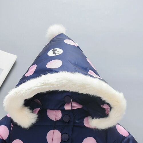 Details about  /Kids Baby Boy Girl Winter Coats Jacket Thick Ears Snowsuit Hoodie Velvet Clothes