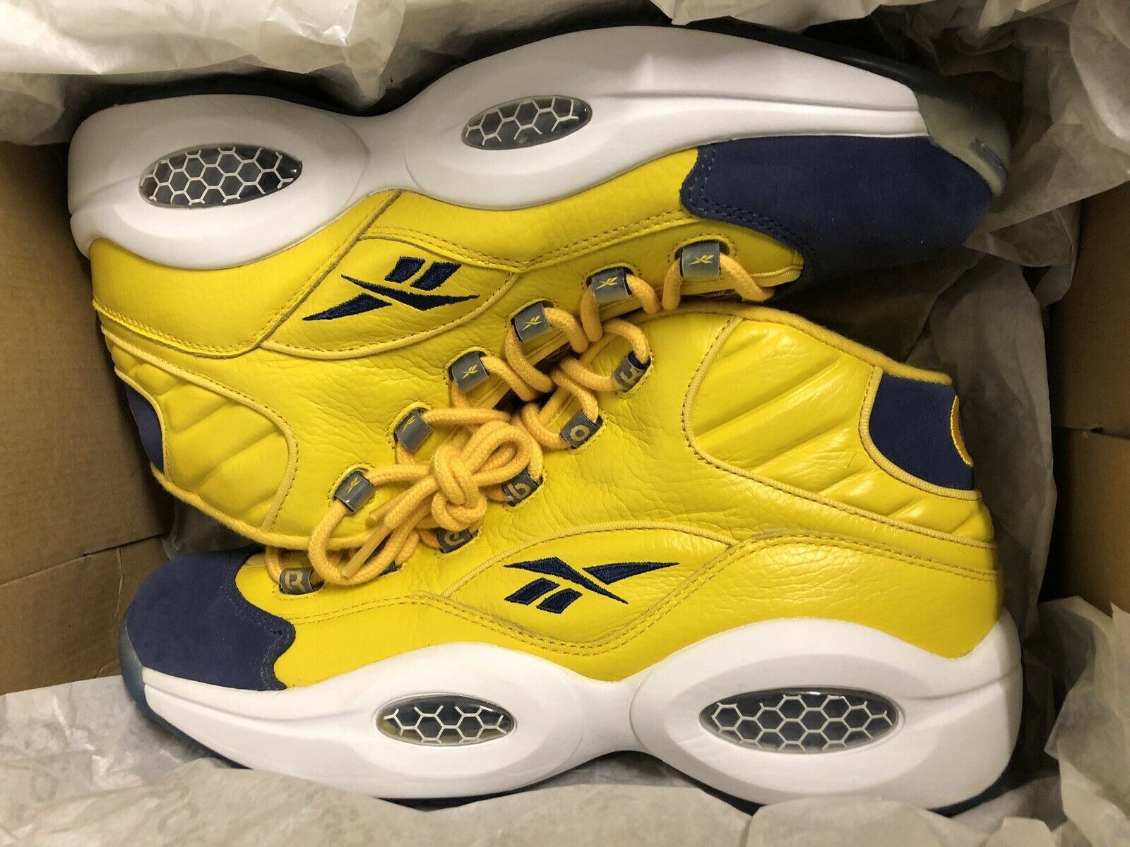 Reebok Question Question Question All-Star giallo   Navy Answer Iverson Pick Your scarpe I II III 667938
