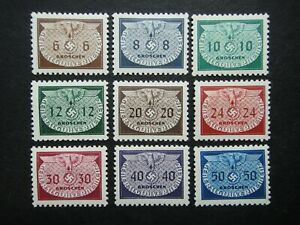 Germany Nazi 1940 Stamps MINT Swastika Eagle Generalgouvernement WWII Third Reic