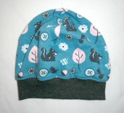 Beanie Jerseymütze ♥  Übergangsmütze ♥ Eichhörnchen ♥ Hellpetroll //Anthrazit