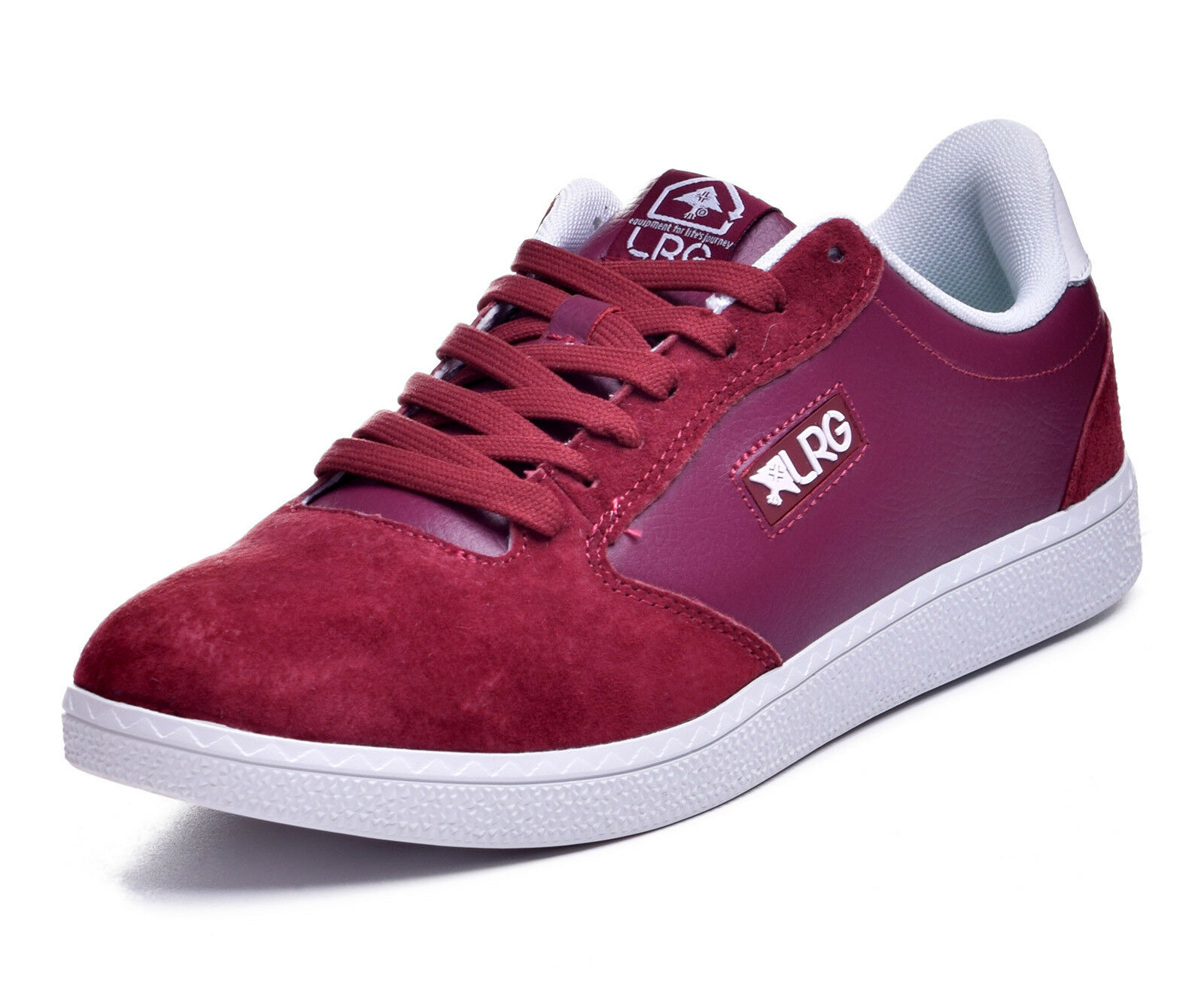 LRG Lifted Research Group Men's Tupelo Burgundy Red Suede Low Top shoes 11
