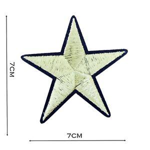 Star-Iron-On-Patch-Gold-7cm-x-7cm-Motif-Badge-Patches-Badges-Applique-P020