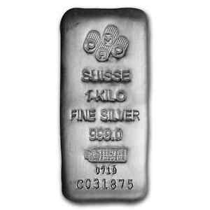 1 kilo Silver Bar - PAMP Suisse (Serialized)
