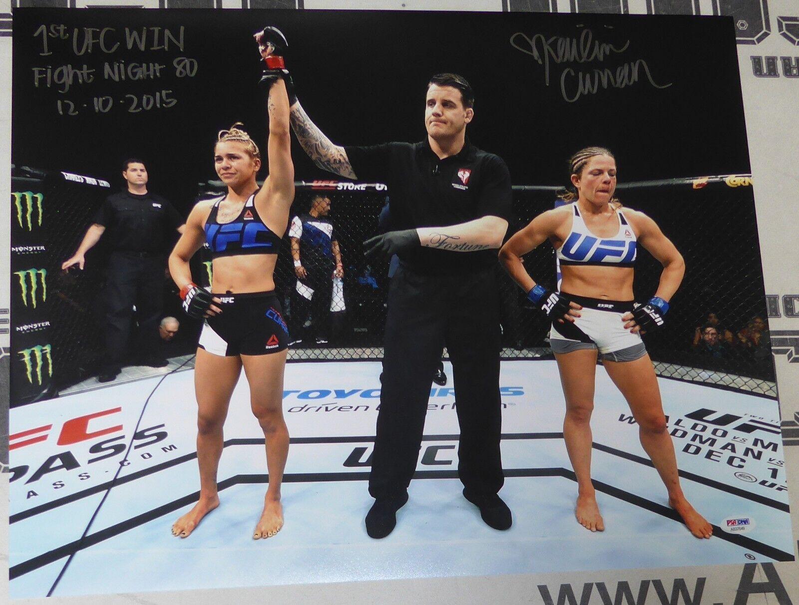 Kailin Curran Firmado 16x20 Foto PSA DNA 1ª UFC Victoria Fight 80 Auto