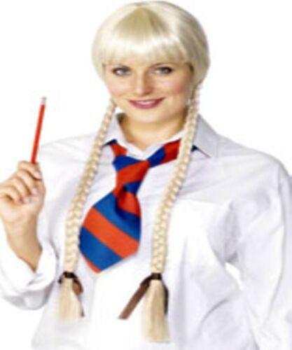 Une paire de Blonde Tresses-Grand accessoire robe fantaisie école pour fille etc-NEUF