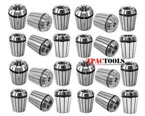 ER32-COLLET-25PC-SET-1-16-034-3-4-034-by-16th-and-32nd-ACCURATE-NEW