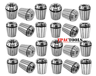 """ER32 COLLET 25PC SET 1/16""""-3/4"""" by 16th and 32nd ACCURATE NEW"""