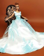 Eaki Silkstone Barbie Fashion Royalty Evening Lace Party Dress Outfit Gown FR