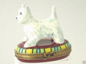 Chamart limoges west highland white terrier westie dog trinket box ebay - Imperial westies ...