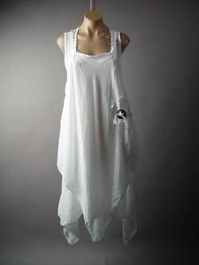 Italy-Victorian-Prairie-Lagenlook-Medieval-Fairy-Peasant-Pinafore-217-mv-Dress