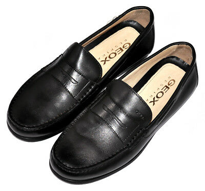 mens moccasin loafers casual shoes geox respira genuine