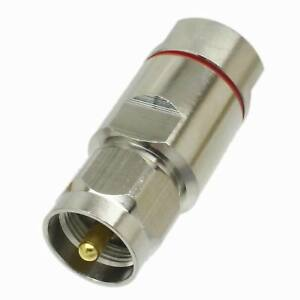 "1pce Connector UHF PL259 male plug clamp 1//2/"" corrugated cable Straight"