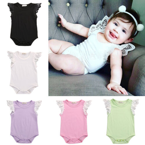 US-STOCK Newborn Kids Baby Girl Bodysuit Romper Jumpsuit Playsuit Outfit Clothes