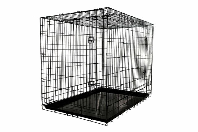 Dog Crate Folding Wire Metal Puppy Kennel Cage XXL Large Giant ...