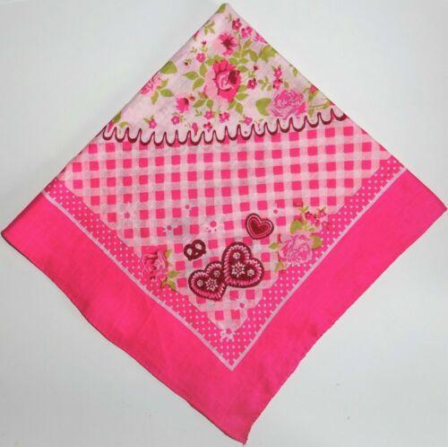 Halstuch Trachtentuch Oktoberfest Edelweiß Rosen rosa pink rot schwarz blau