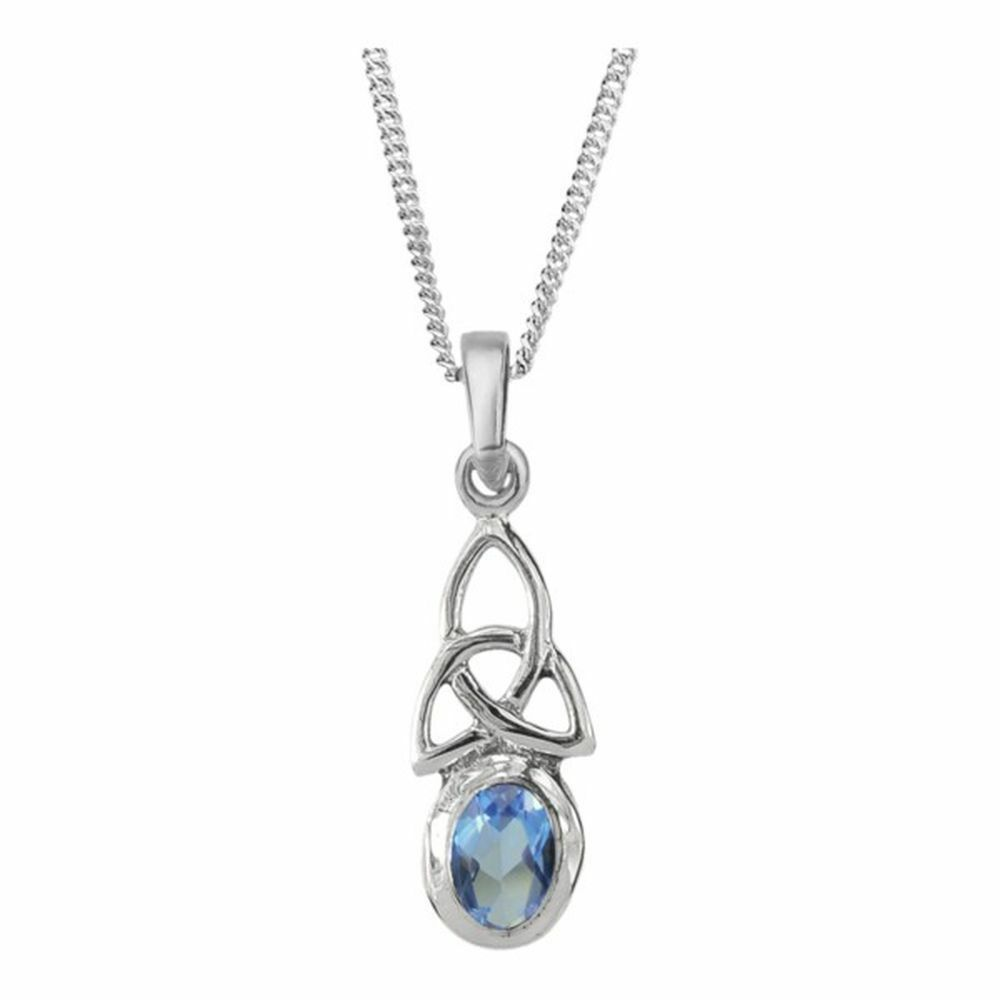 Celtic Birthstone Pendant March - Aquamarine - 505