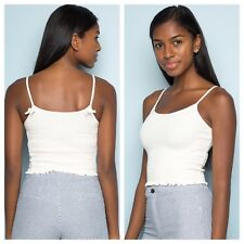 a46e0192c9 Brandy Melville white crop smocked izzy tank top NWT XS S