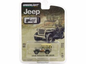 Willys JEEP MB Jeep - 1940 - Military - Greenlight 1:64