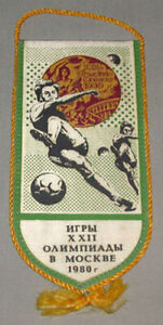 Original-1980-Moscow-Olympic-Russia-Official-Football-Soccer-Team-Pennant