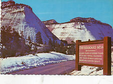 postcard   USA Utah  Winter Mood in Zion National Park  unposted