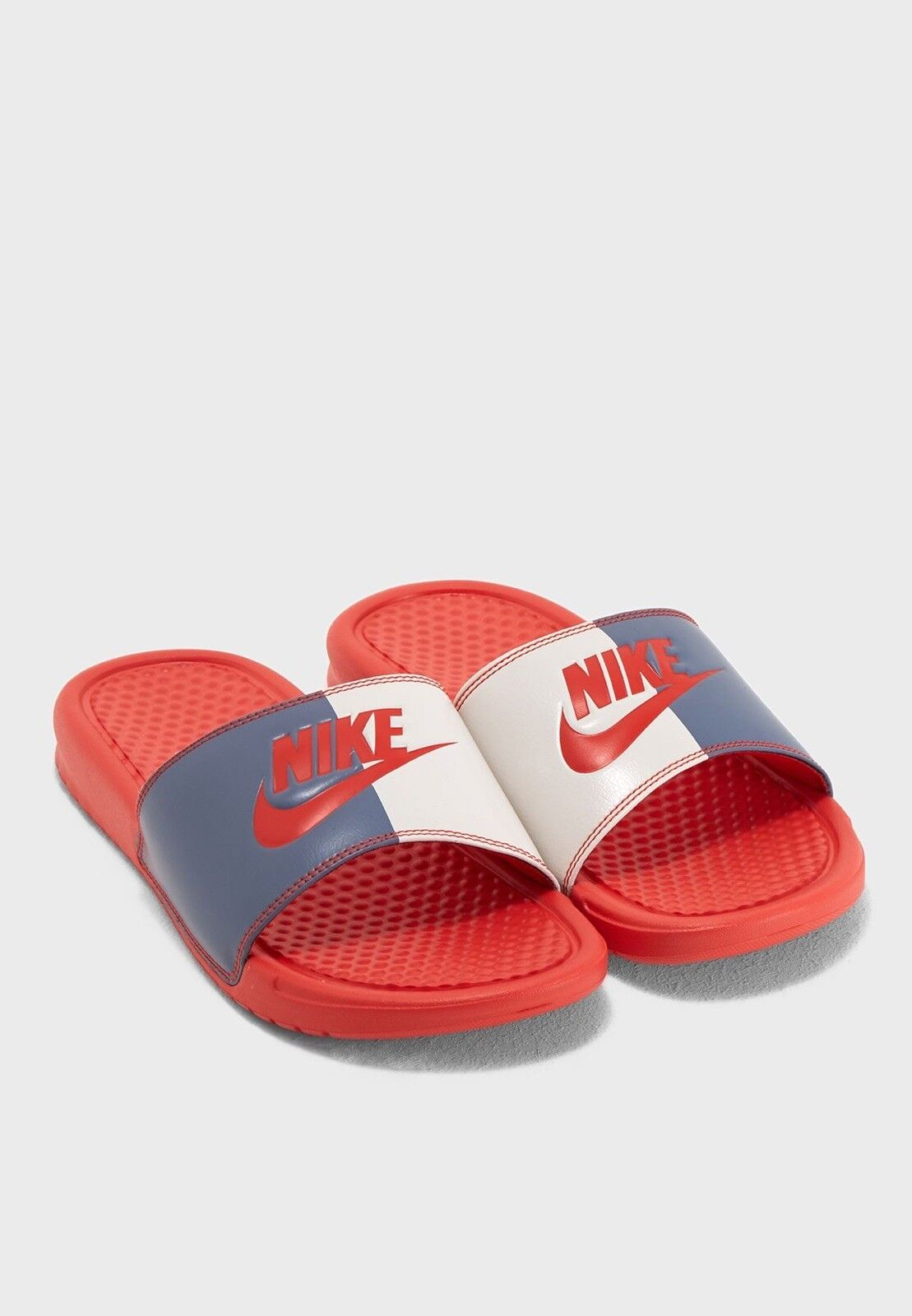 Nike Benassi JDI Print (Unisexe) UK 8.5 EU 43 Habanoir Rouge