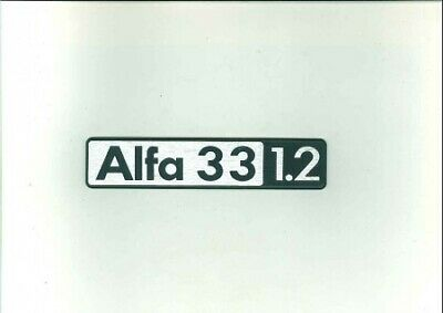 Sigla posteriore BOXER 4C per Alfa Romeo 33