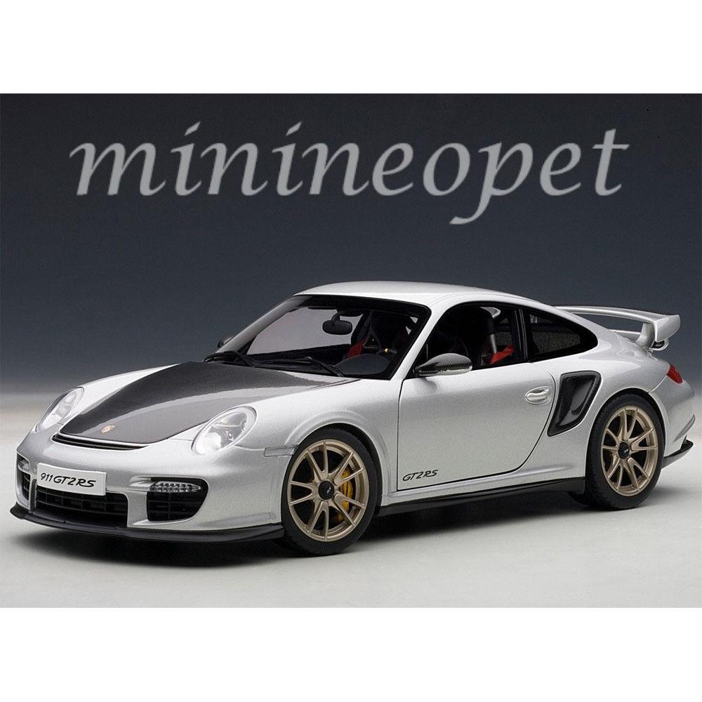 Autoart 77961 Porsche 911 997 GT2 RS 1 18 Voiture Modèle Argent
