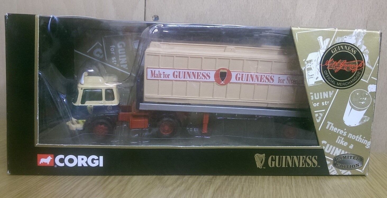 Corgi  22504 Bedford TK Platform Trailer & Guinness Box Ltd Ed No 0003 of 6400