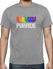 Women/'s Unisex MAD Engine LG Cat GAY PURRIDE Rainbow LBGTQ Gray BF//GF T-Shirt