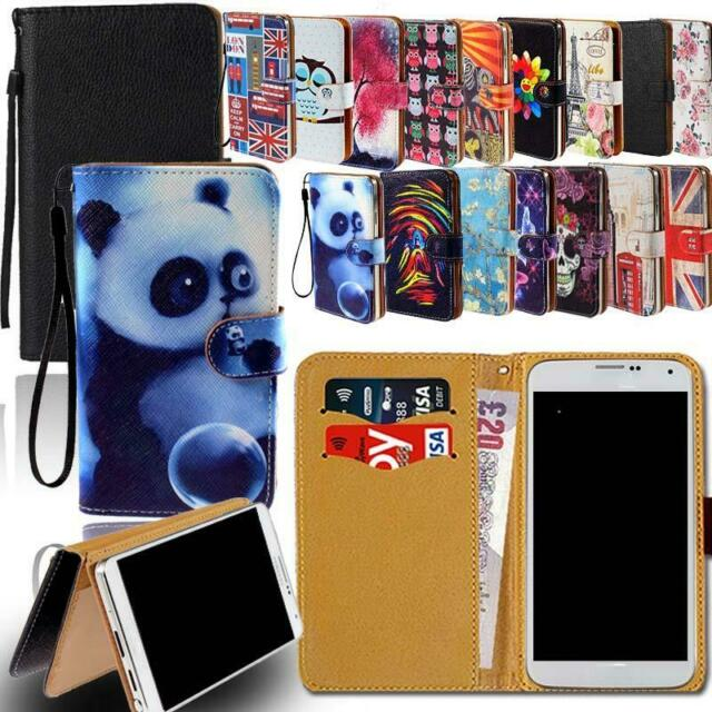 newest e4373 15385 Leather Smart Stand Wallet Cover Case For Various InFocus Mobile Phones