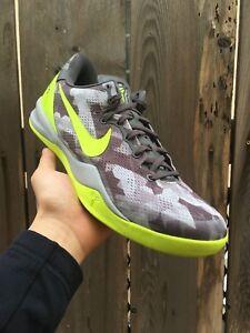 Nike Kobe 8 VIII System Sport Grey Volt Pure Platinum Pre-owned Size ... fa2b2d177