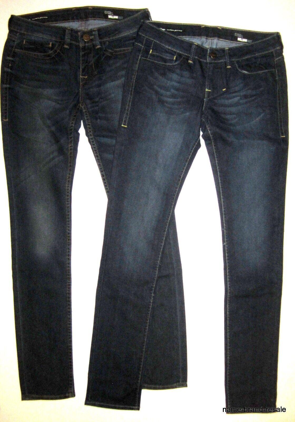 Lot 2 WILLIAM RAST NEW Jerri Ultra SKINNY Jeans WOMENS 27 x 33 Dark Wash Slim
