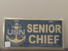 United States Navy Senior Chief E-8 Embossed License Plate