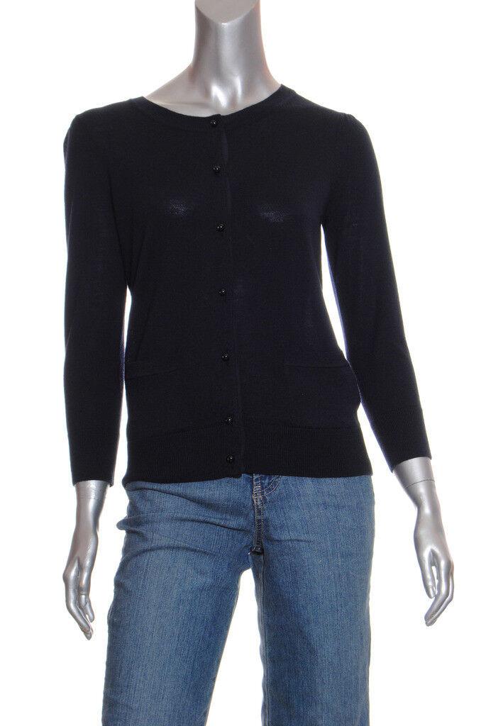 NEW DKNY 3 4 sleeve Merino Wool Cardigan Sz P  255