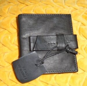 Urban-Outfitters-cooperative-Mayble-Black-Leather-Bifold-Wallet-w-Bow-S-O-NWOT