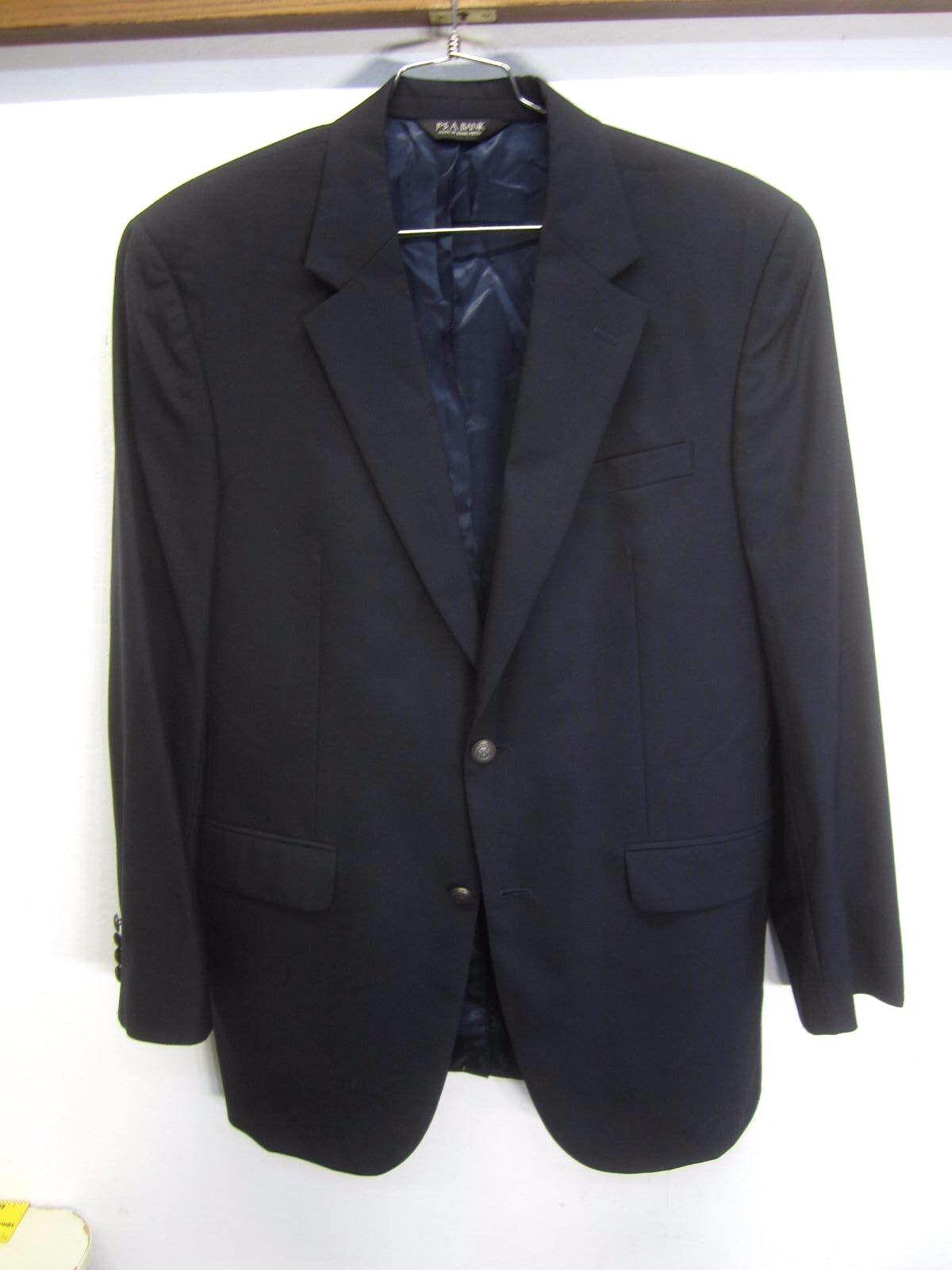 NWOT Jos. A. Bank Blazer Sport Coat navy Blau 2 btn wool sz 42L