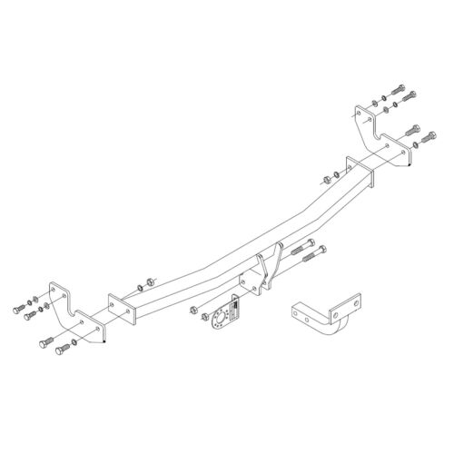 PCT Towbar for Citroen DS3 Hatchback 2010-2015 Flange Tow Bar