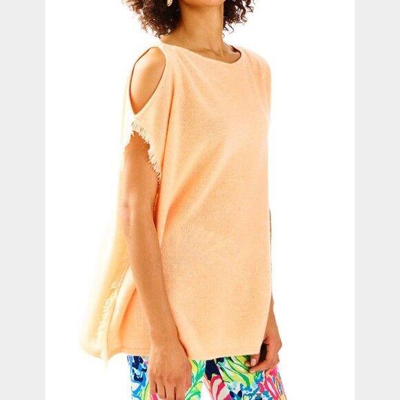 NWT  218 Lilly Pulitzer Sandria Cashmere Sweater Heatherot Melon Glow Größe S M