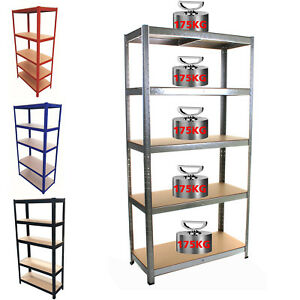 5 Tier Heavy Duty Kitchen Wire Rack Carbon Steel Shelving Garage Storage Racking