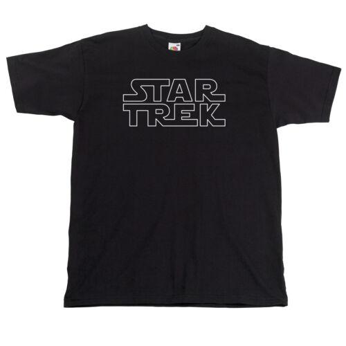 funny fan boy T Shirt Trek sci fi t-shirt Star Wars