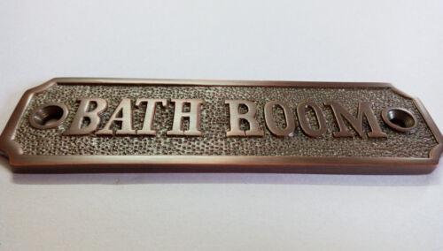 Bathroom Sign for door Antique copper color