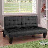 Convertible Futon Lounger Fold Down Mini Guest Bed Sofa Sleeper W/ Mattress