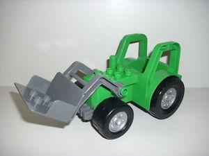 Lego duplo 1 großer xl trecker traktor frontlader grün für bauernhof