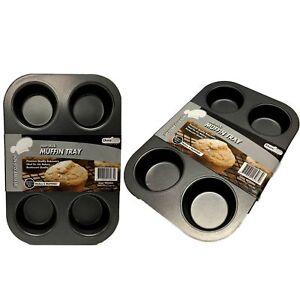 2x-6-Cup-Muffin-Cupcake-Pan-Tin-Cake-Non-Stick-Baking-Tray-Bakeware