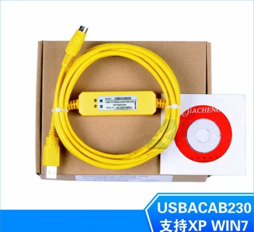 USBACAB230//USB-DVP Programming//Data download cable FOR DVP Series PLC win7