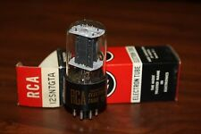 12SN7GT RCA BLACK PLATE VINTAGE TUBE - NOS IN BOX