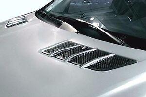 For mercedes w164 ml350 x164 gl450 chrome hood vent fin for Mercedes benz gl450 chrome accessories